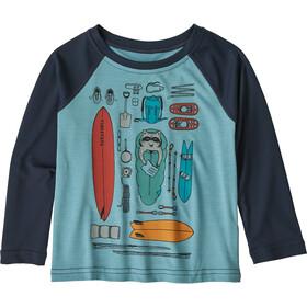 Patagonia Capilene Cool Daily T-shirt Col ras-du-cou Enfant, bandito kit/big sky blue x-dye